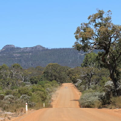 Driving in the Porongurup National Park