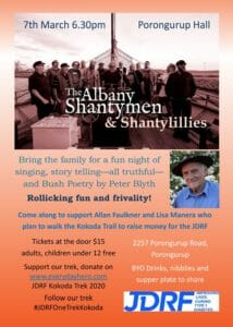 Albany Shantymen & Shantylillies at the Porongurup Hall
