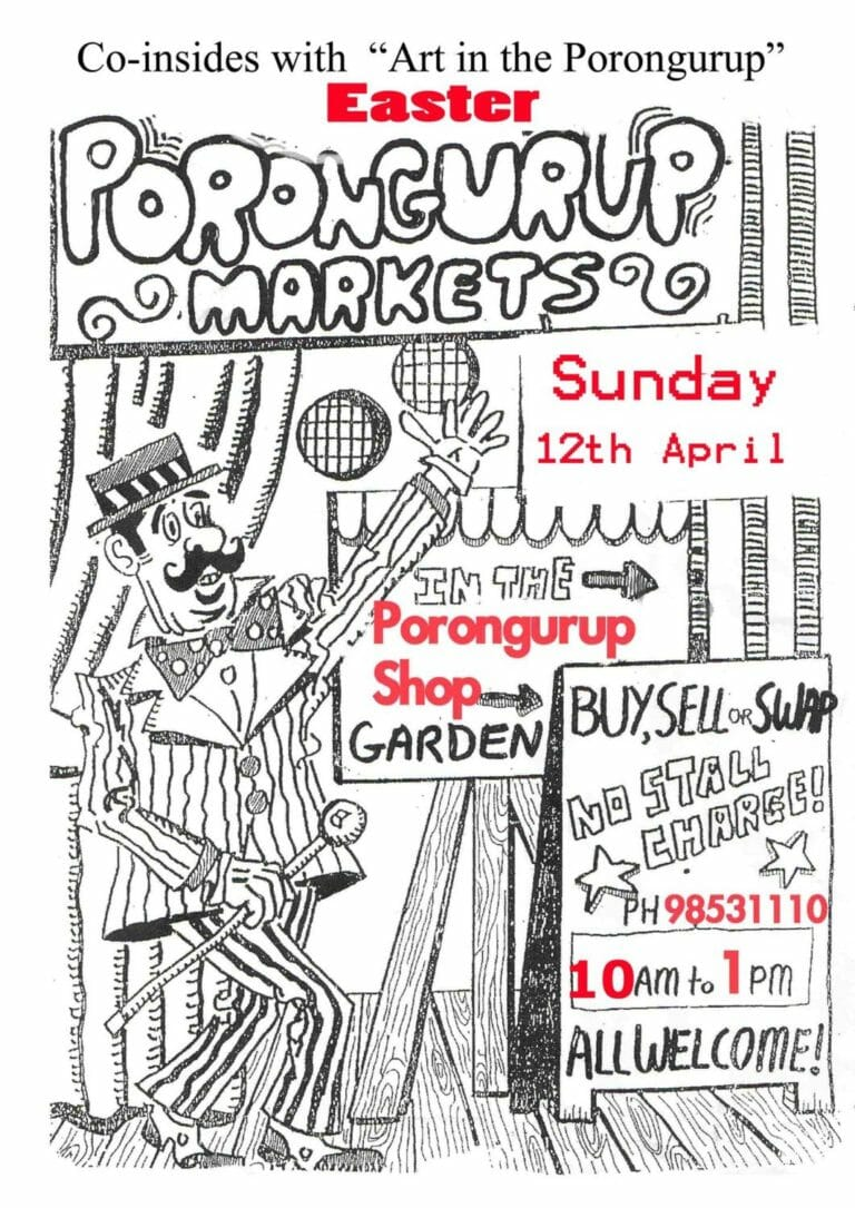 Easter Porongurup Markets - Sunday 12 April, 2020