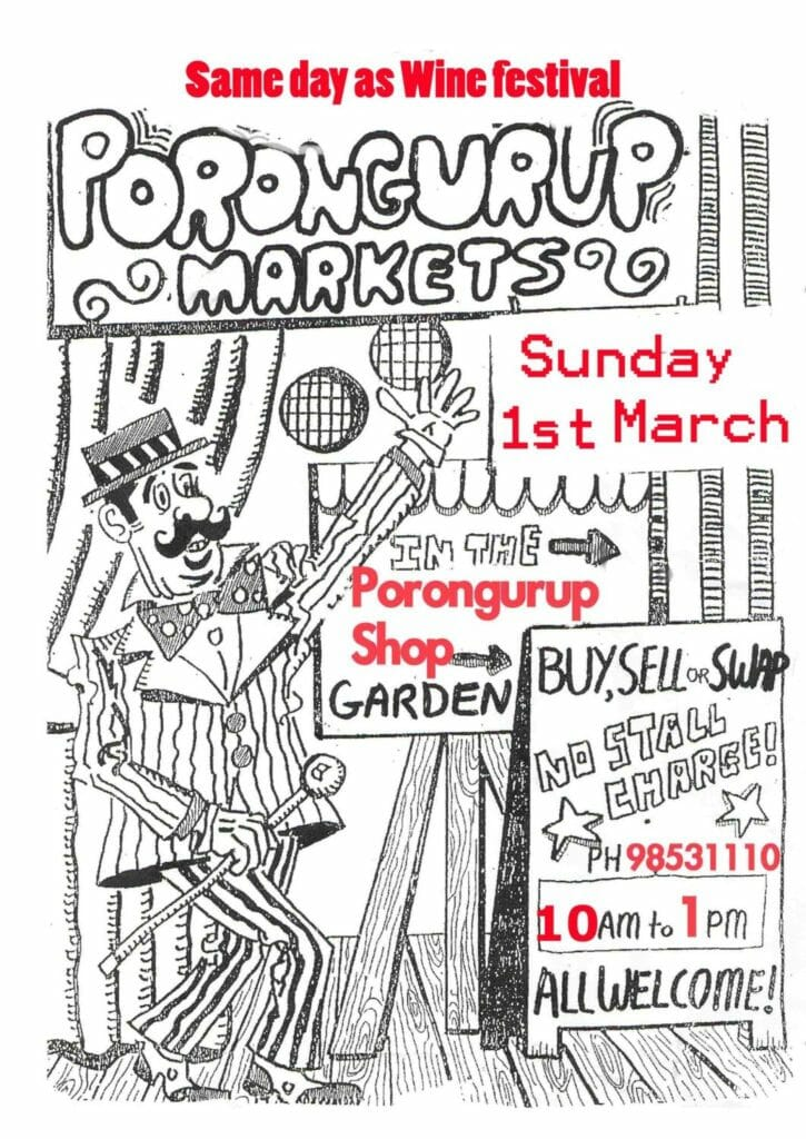 Porongurup Markets - 1st March 2020