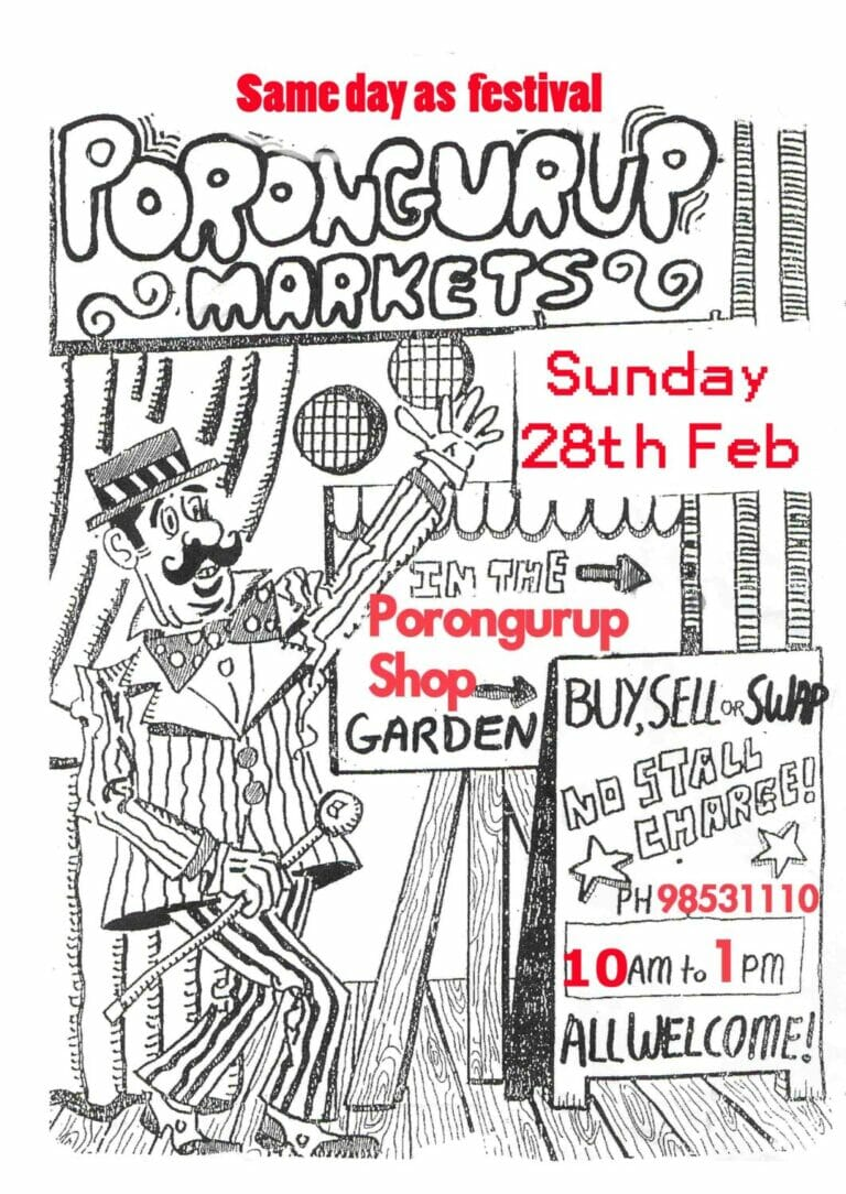 Porongurup Markets - Sunday 28 February 2021
